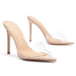Nude Perspex Heels